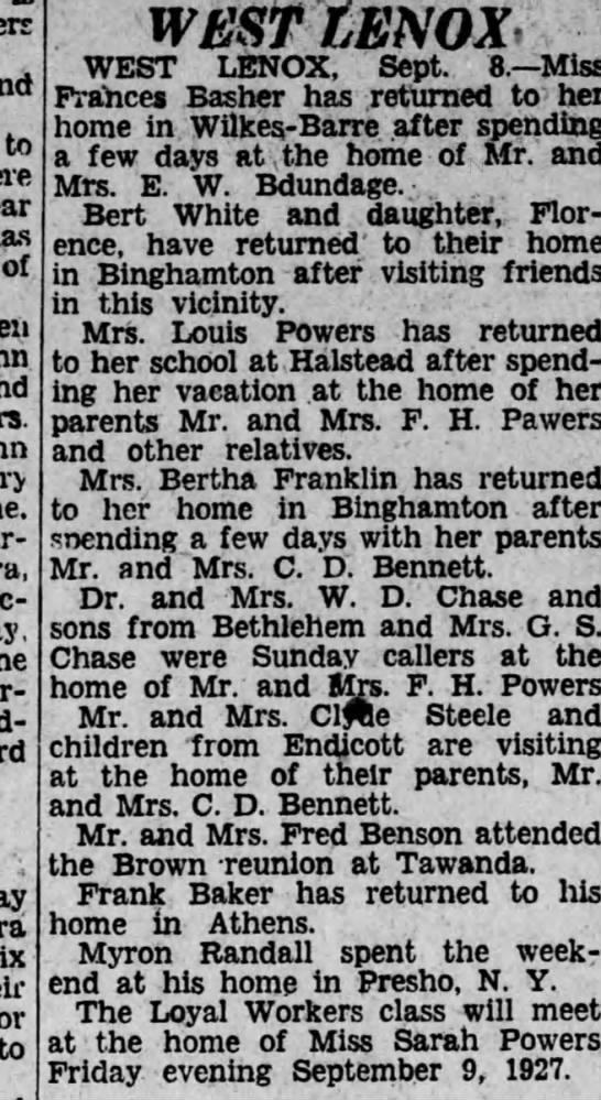 Bertha Franklin Newspapers Com