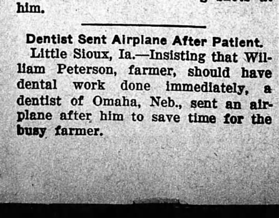 dentist airplane - him. Dentist Sent Airplane After Patient Little...