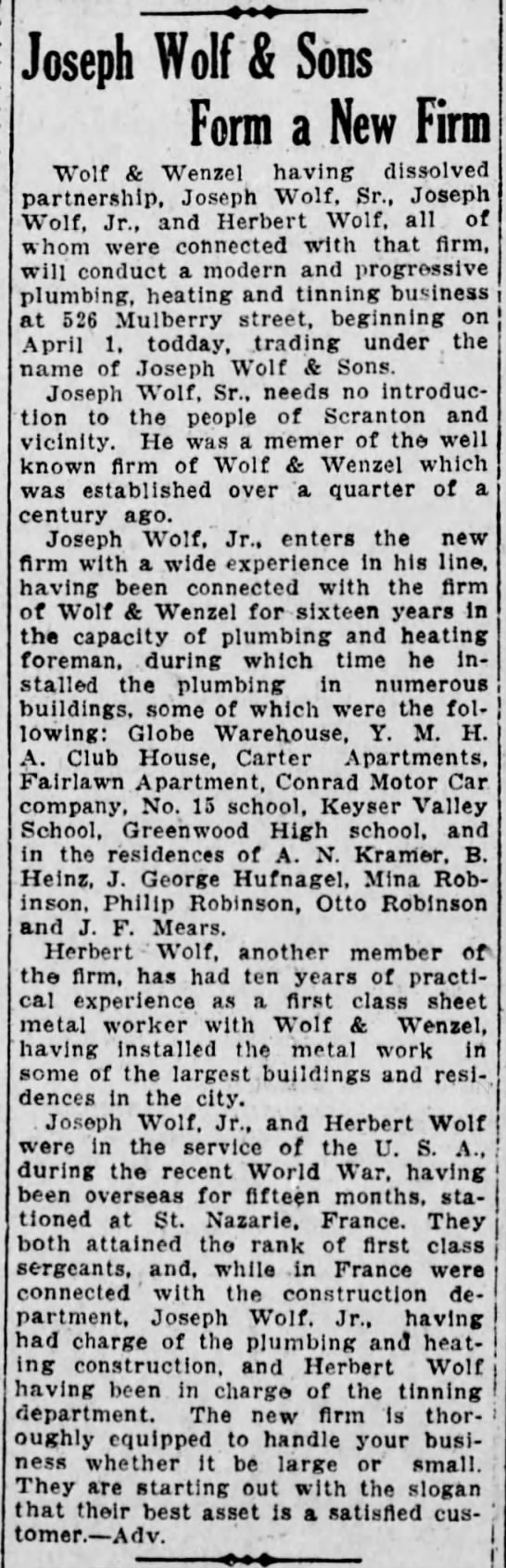 April 1, 1920, The Scranton Republican Newspaper -