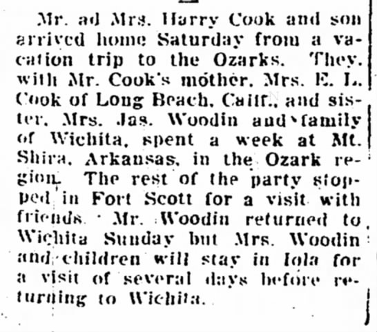Trip to the Ozarks -
