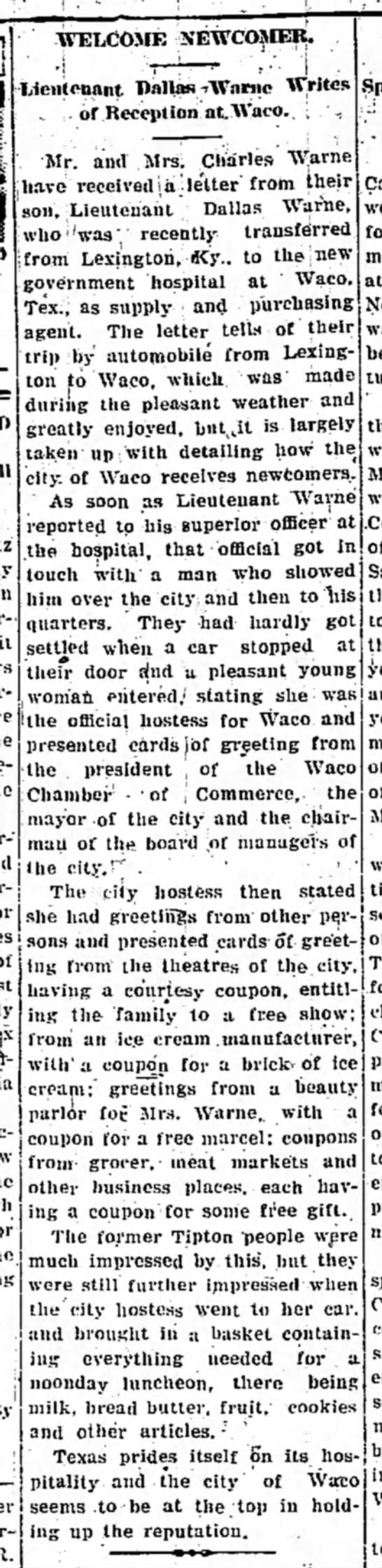Tipton Daily Tribune 23 Mar 1932 pg 3 col 5 -