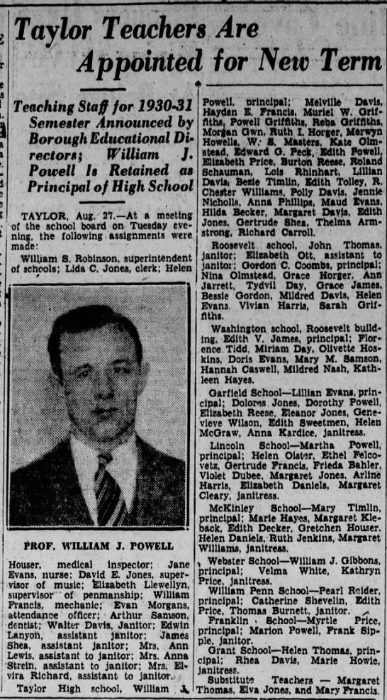 William J. Powell 1930 -