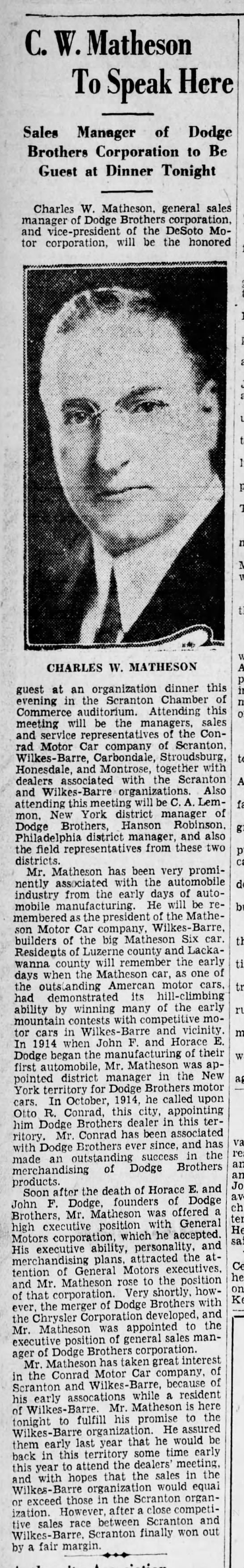 Matheson Automobile Co. -