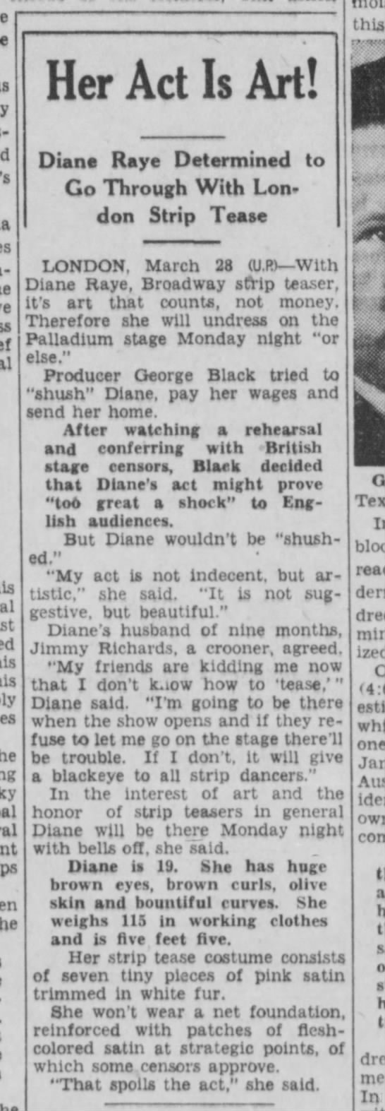 Pottstown Mercury March 29, 1937 Diane and Jimmy in the news -