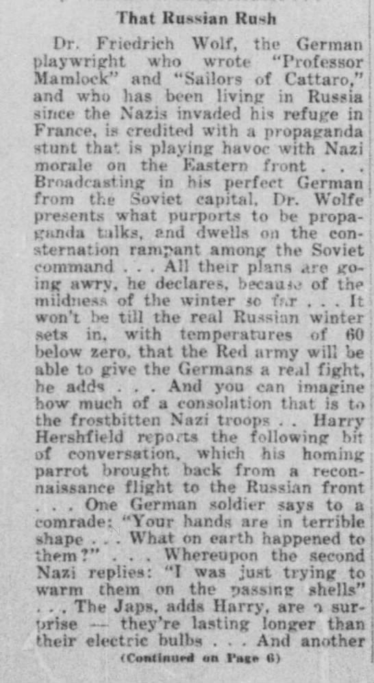 Wisconsin Jewish Chronicle 1942, p. 1 -