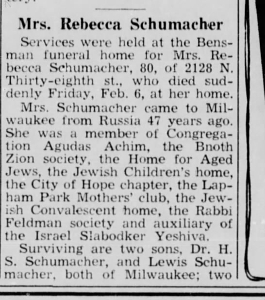 Wisconsin Jewish Chronicle