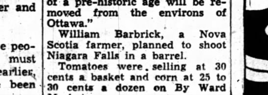 William Barbrick, Niagara Falls - and people must eariie been a pre-hlstoric age...