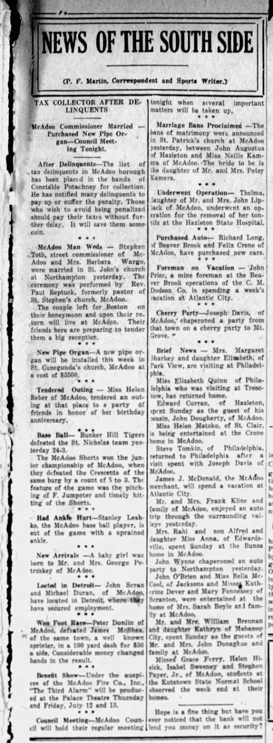 News of the South Side - 1923 -
