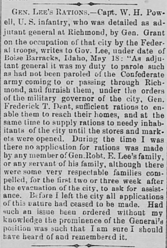 Alexandria Gazette (Alexandria, Virginia, 30 May 1887, page 2, col 5 -