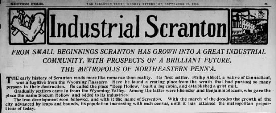 The Growth of Scranton Scr Truth Sep 1905 -