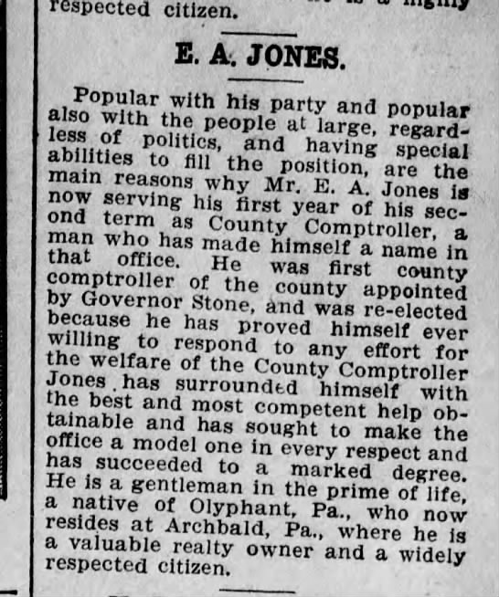 Edward A Jones County Controller Scr Truth Sep 25 1905 pg 36 -