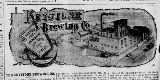 Keystone Brewing Co Logo PWC 1905 -