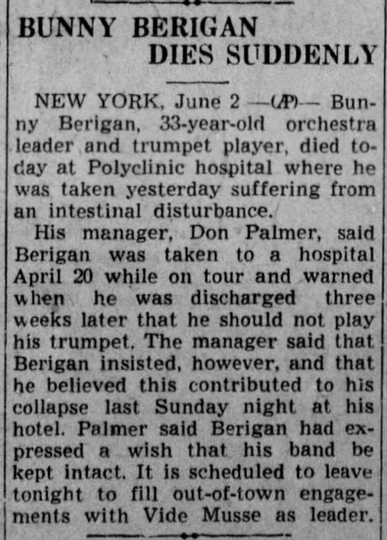 Bunny Berigan (1908-1942) -