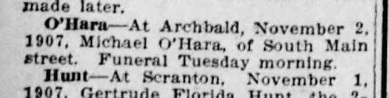 Michael O'Hara11-2-1907 -