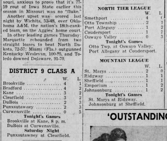 1957 Near End of NT 1st Half -