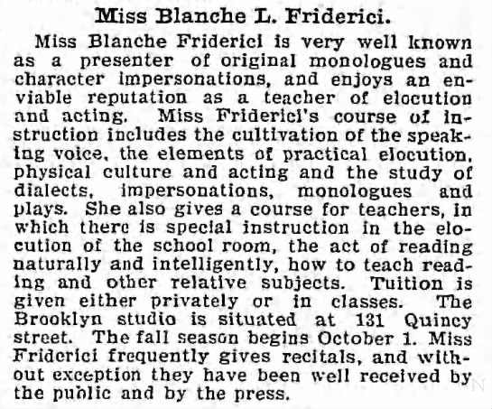 Blanche Friderici - teacher -