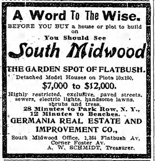 1902-5-20 South Midwood Germania ad -