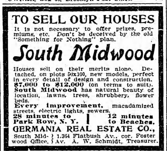 1902-6-8 Germania ad South Midwood 28 mins to Park Row -