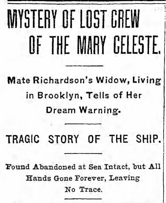 Lost Crew of the Mary Celeste -