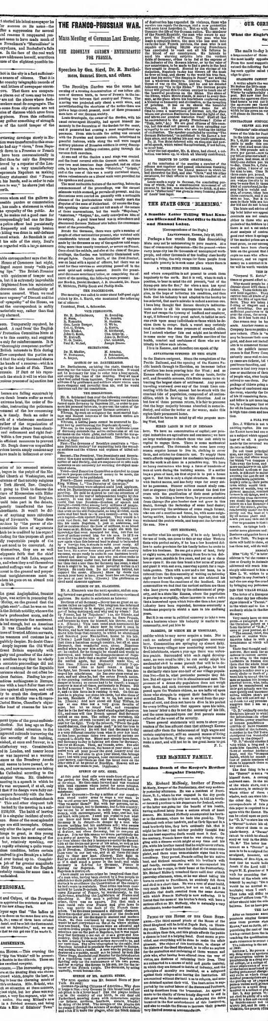 26 7 1870 BDE Julius L  engagiert sich im Deutsch-Französischen