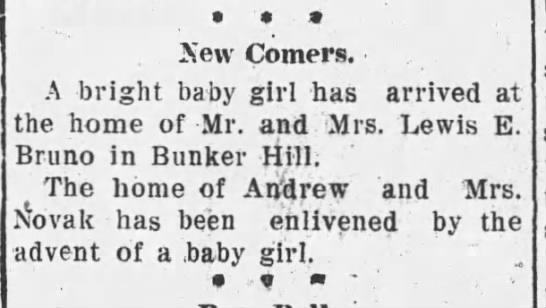 Baby announcements - 1908 -