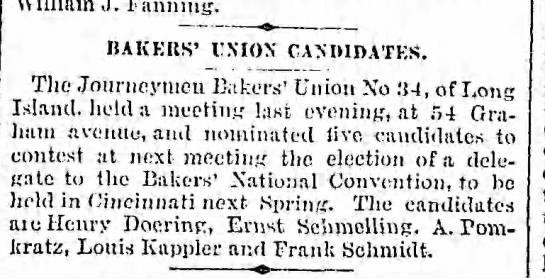 Bakers' Union Election - Newspapers com