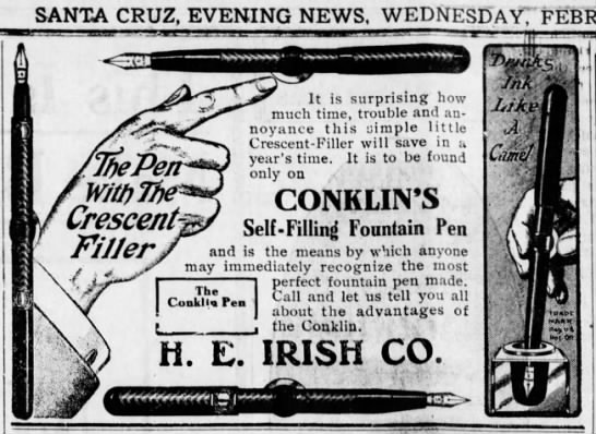 Santa Cruz Evening News 2 Feb 1910 - J SANTA CRUZ, EVENING NEWS. WEDNESD'AYT f...