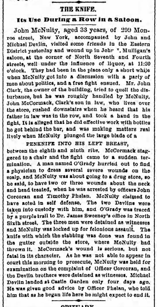a McNulty fight in NYC, Bklyn Dly Eagle, 18 Oct 1880 -