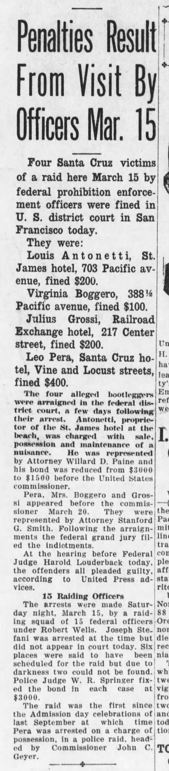 Santa Cruz Evening News, 16 April 1930, Page 1, Column 1 -