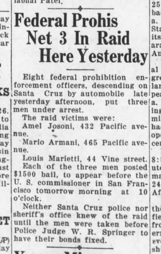 Santa Cruz Evening News, 26 May 1930, Page 1, Column 3 -