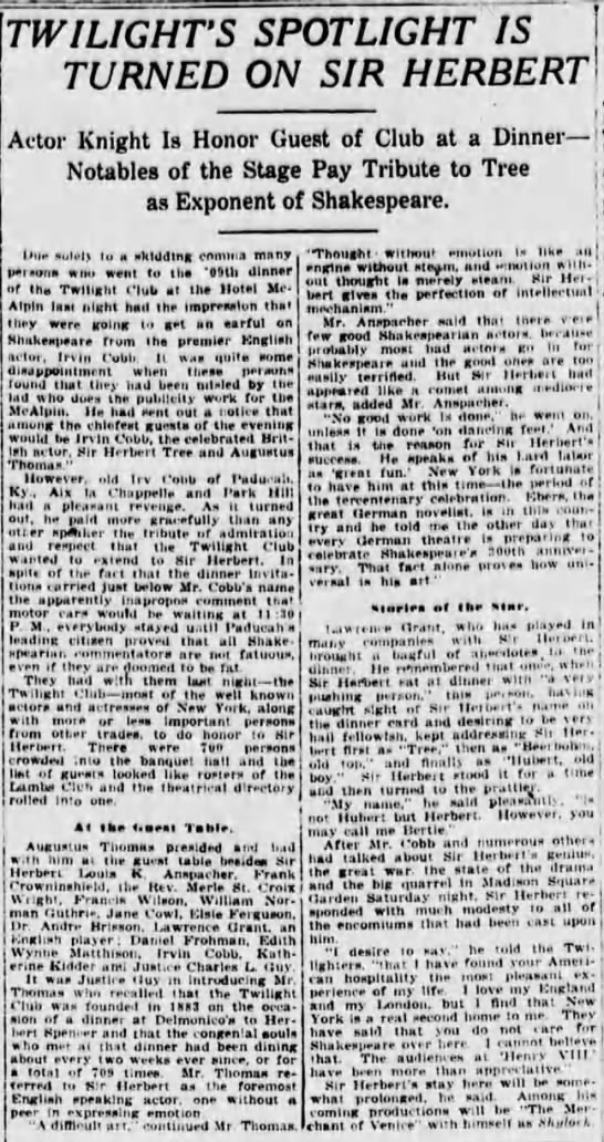 The Sun (New York, New York) 27 March 1916  Page 4 -