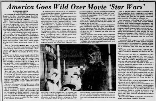 "America Goes Wild Over Movie ""Star Wars"" -"