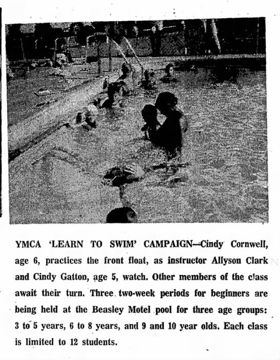 1970 August 12 Cindy in Swim Lessons -