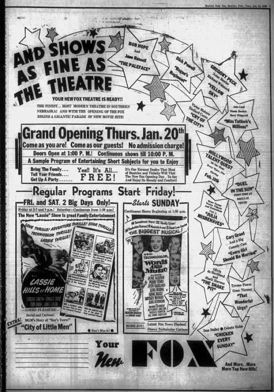 Fox theatre opening -