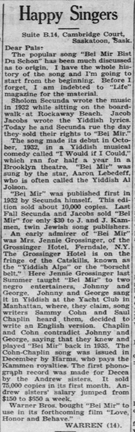 """Borscht Belt"" or ""Yiddish Alps"" (1938). -"