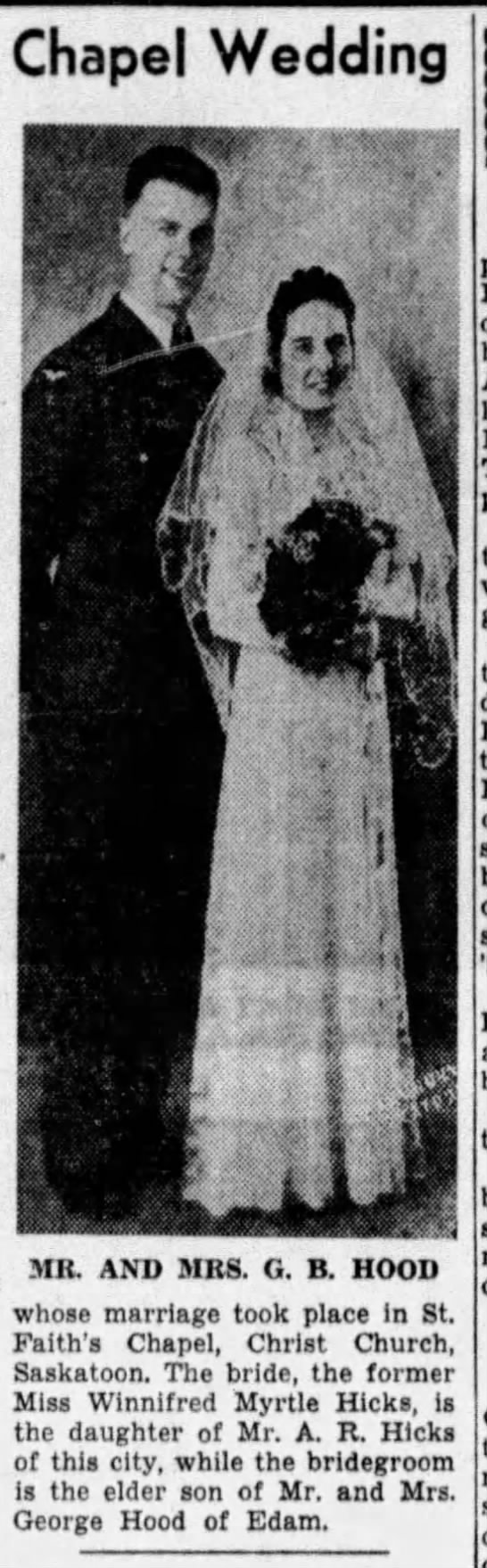 1940 Wedding Announcement -