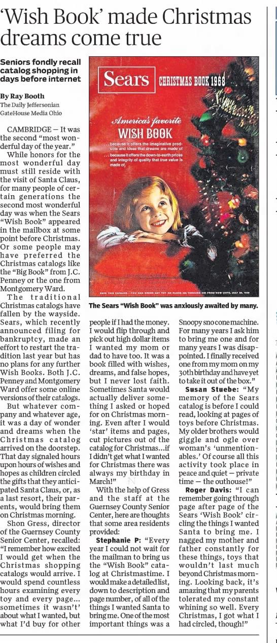 Wish Book made Christmas Dreams Come True -