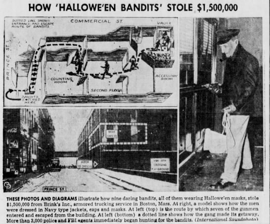 "Named ""Hallowe'en Bandits"" after their masks - HOW 'HALLOWE'EN BANDITS' STOLE $1,500,000 THESE..."