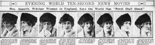 "Mrs. Asquith, Wittiest Woman in England, Says World Has ""Moral Shell Shock"" -"
