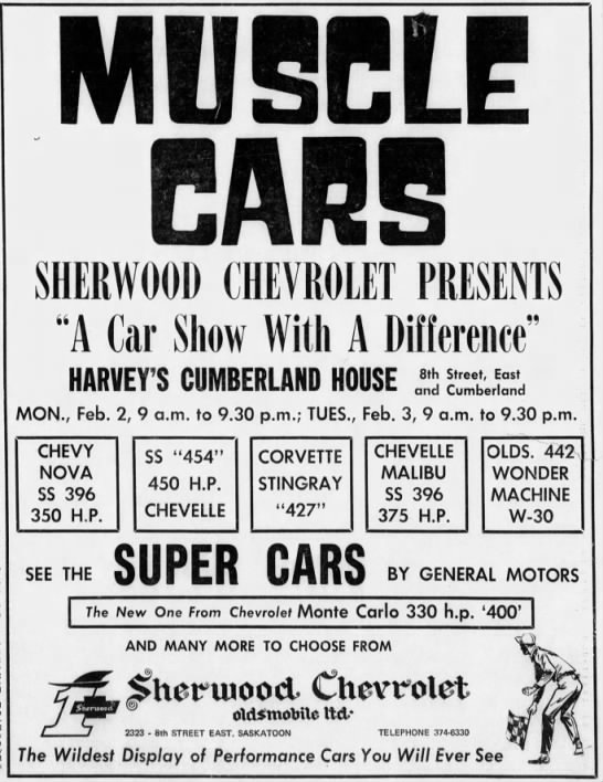 Sherwood Chev Saskatoon >> Clipping From Star Phoenix Newspapers Com