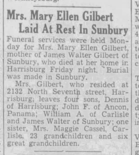 Mary Ellen Gilbert obituary - Newspapers com