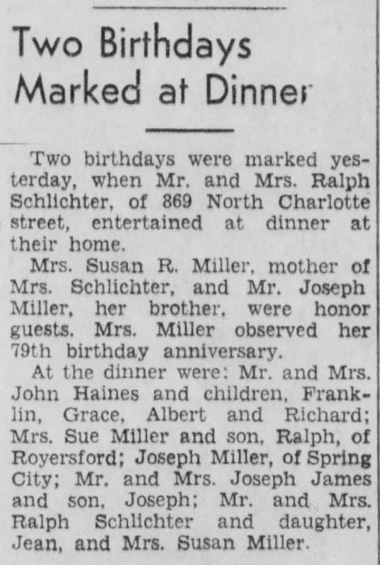 Susan miller birthday dinner -