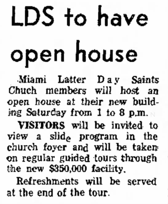 Miami Ward Open House Silver Belt May2, 1968 -