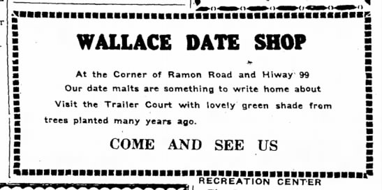 Wallace Date Shop -