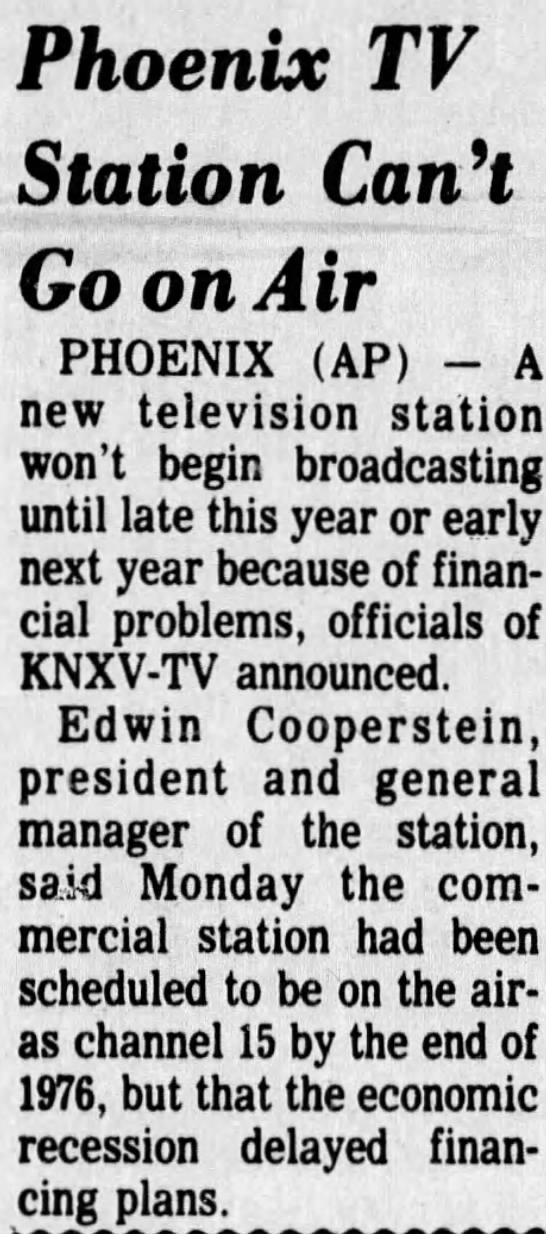 Phoenix TV Station Can't Go on Air -
