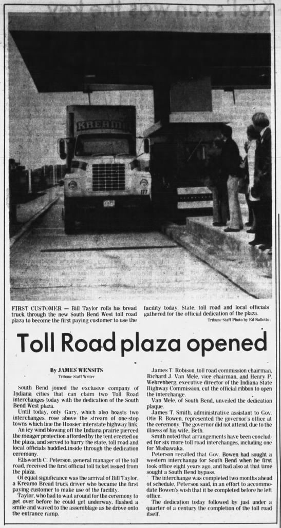 Toll Road Plaza Opened -