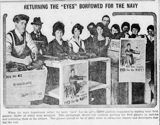 """Returning the """"eyes"""" borrowed for the Navy -"""