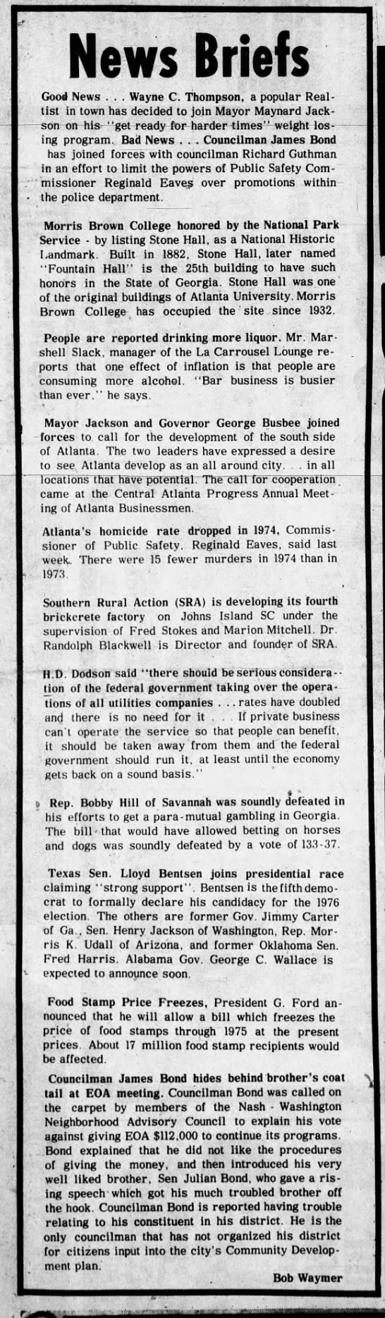 News Briefs 1975 - The Atlanta Voice -
