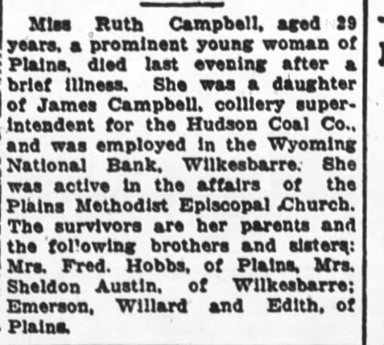 Miss Ruth Cambell -