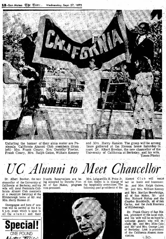 UC Alumni to Meet Chancellor - Newspapers com